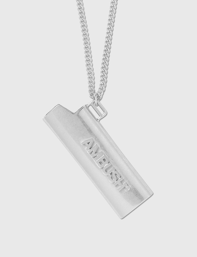Ambush Lighter Case Necklace Silver Men