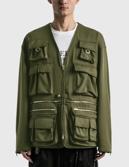 Mastermind World Jersey Multi Pockets Cardigan