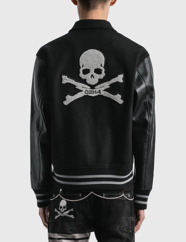 C2H4 Los Angeles C2H4® x Mastermind Japan Applique Baseball Jacket Black Men