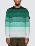 Stone Island Shadow Project Gradient Knit Crewneck Sweater Picture