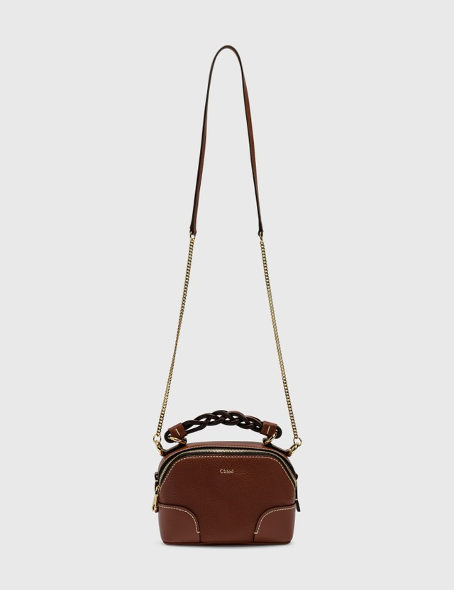 Chloé Mini Daria Chain Bag Sepia Brown Women