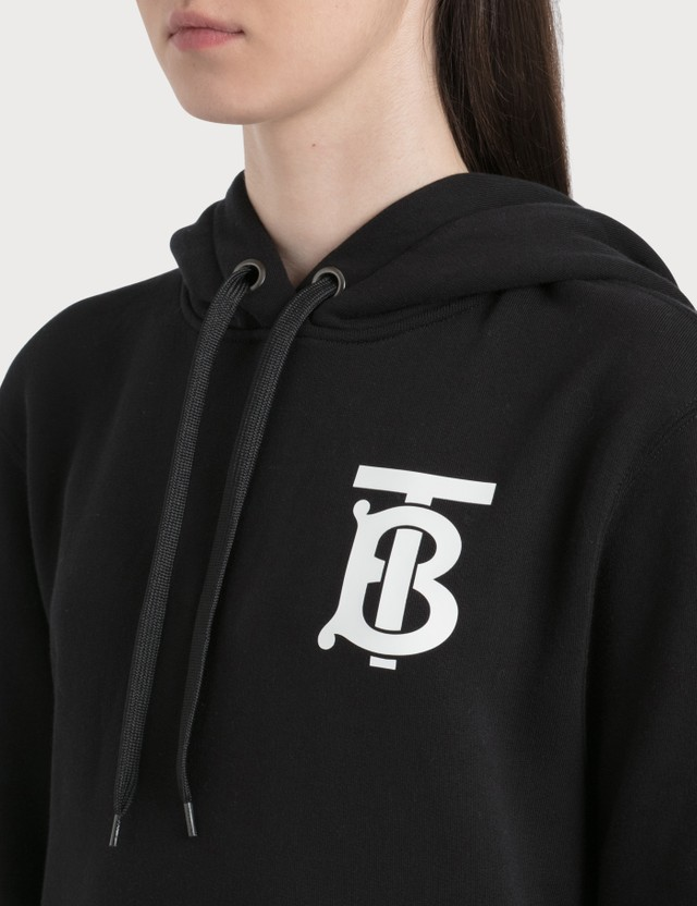 Burberry Monogram Motif Cotton Hoodie Black Women
