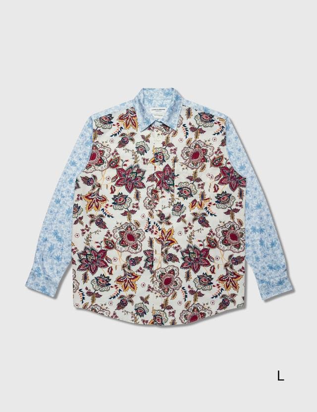 Marine Serre Regenerated Bedsheet Loose Shirt 1 Broken White With Print Women