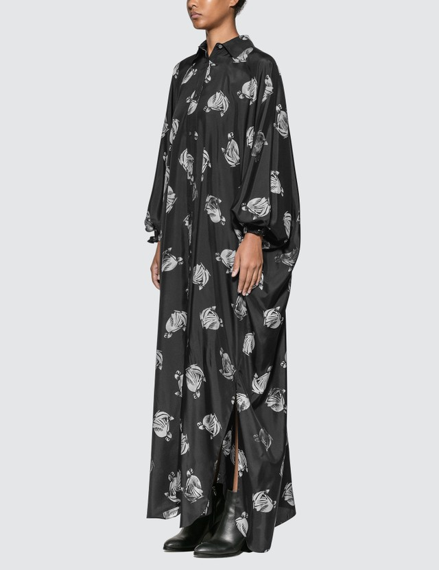 Lanvin Logo Print Long Dress