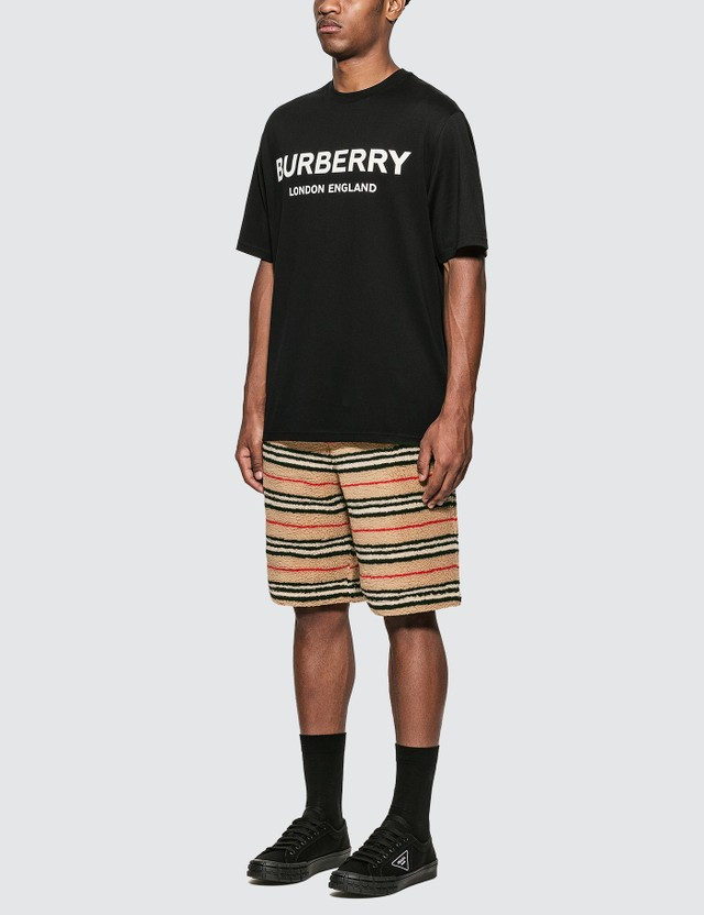 Burberry Logo Print Cotton T-Shirt Black Men