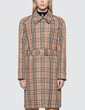 Burberry Vintage Check Nylon Belted Car Coat Picture