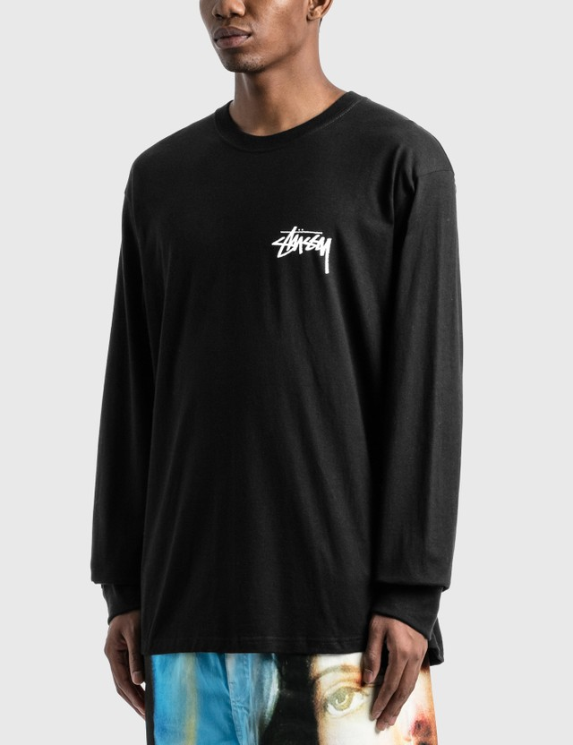 Stussy Peace & Love Long Sleeve T-Shirt Black Men