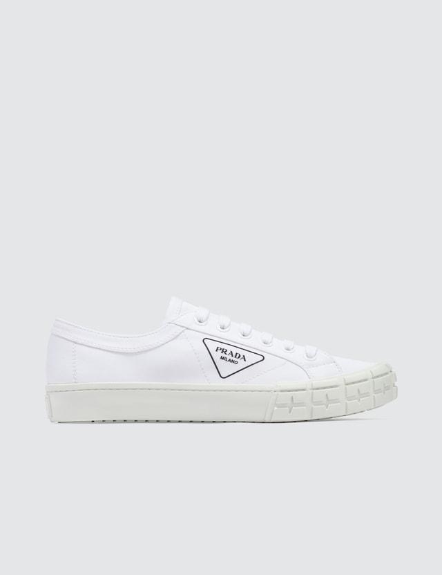 Prada Gabardine Sneaker White Men