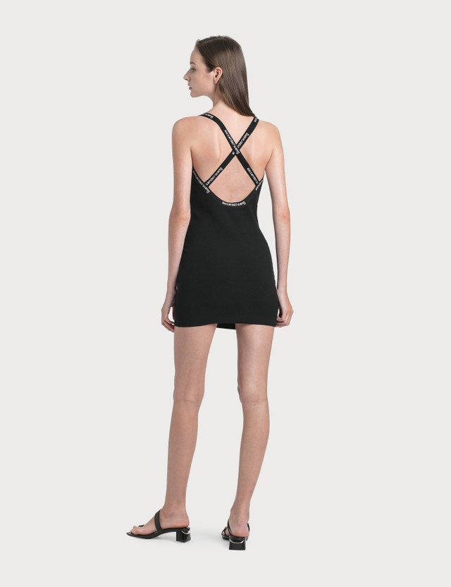 Alexander Wang.T Logo Trim Bodycon Dress