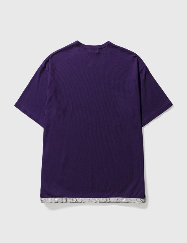 Kolor Kolor With Silver Trimming Tee Purple Men