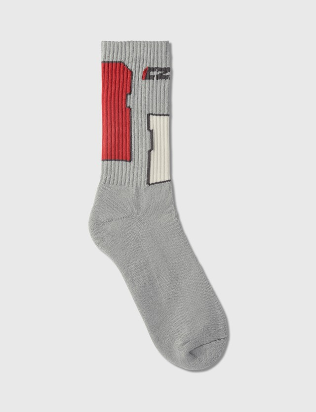 C2H4 Los Angeles Sd Card Sock Gray/red Women