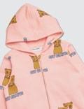 Mini Rodini Cat Campus Zip Hood Pink Girls