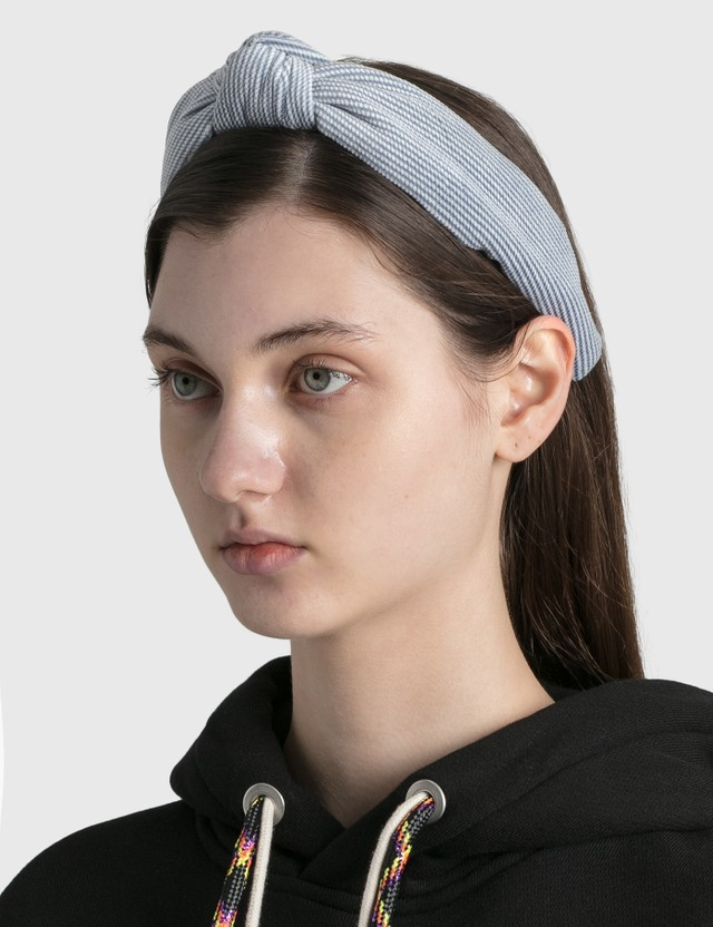 Lele Sadoughi Soft Waffle Knotted Headband Blue Women