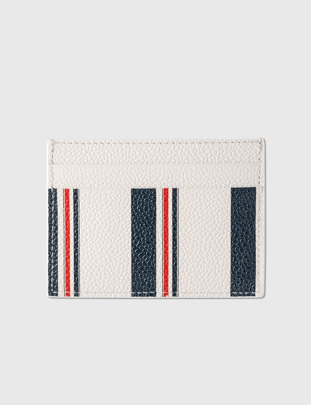 Thom Browne Double-Sided Card Holder White Men