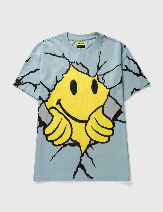 Chinatown Market Smiley Dry Wall Breaker T-shirt Blue Men