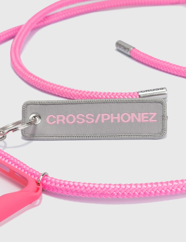 CROSS/PHONEZ Baby Pink Rope With Silver Details iPhone Case Baby Pink / Silver / Transparent Women