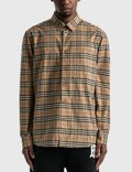 Burberry Small Scale Check Stretch Cotton Shirt Picture