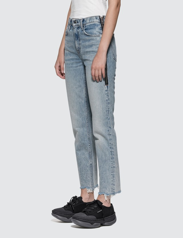 Alexander Wang.T Cult Side Zip Vintage Wash Indigo Jeans