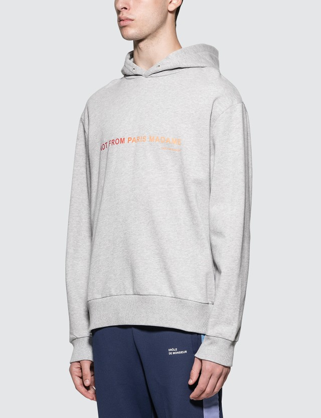 Drôle de Monsieur Shaded Slogan Hoodie