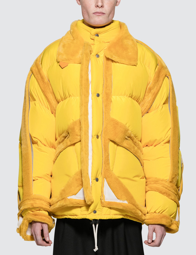 Maison Margiela Yellow Trim Show Puffer Jacket