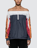 Opening Ceremony Off The Shoulder Warm-up Anorak Picutre