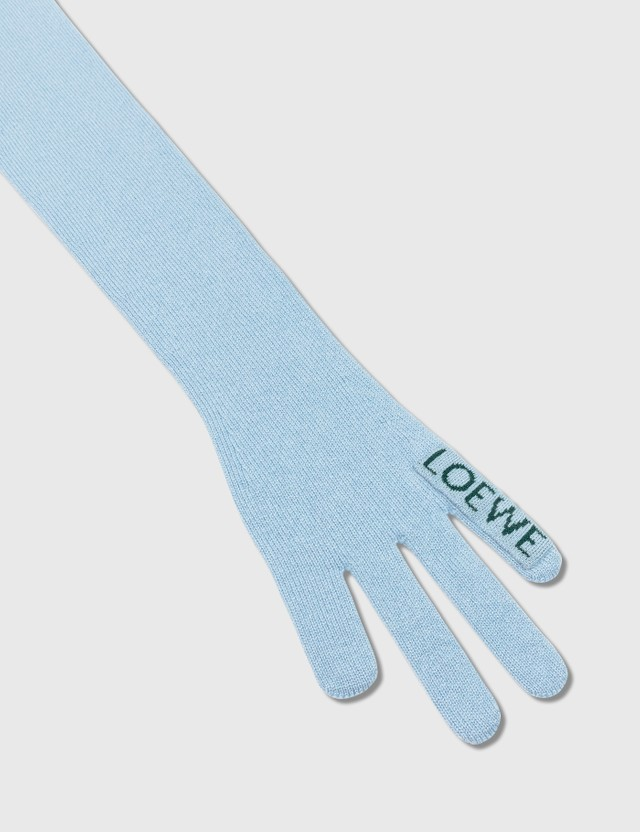 Loewe 15 x 260 cm 핸드 스카프 Light Blue/green Women