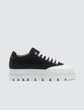 MM6 Maison Margiela Black & White Platform Sneakers Picutre