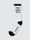 Have A Good Time Logo Socks Picture