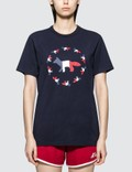 Maison Kitsune Tricolor Fox Flag Short Sleeve T-shirt Picutre