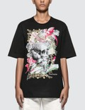 Alexander McQueen Floral Skull Printed Oversized T-shirt Picutre