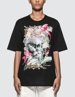 Alexander McQueen Floral Skull Printed Oversized T-shirt