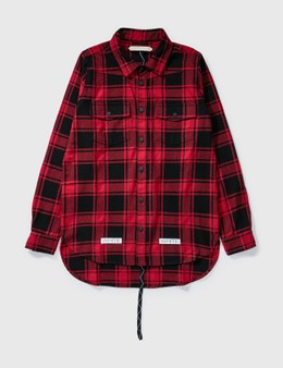 Off-White Off-white Oversize Wool Check Shirt