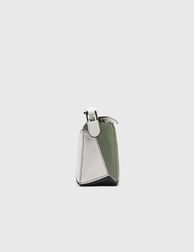Loewe Mini Puzzle Bag Soft White/rosemary Women