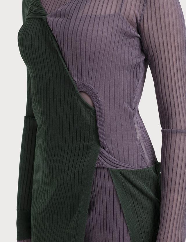 Bottega Veneta Silk Ribbed Knit Dress