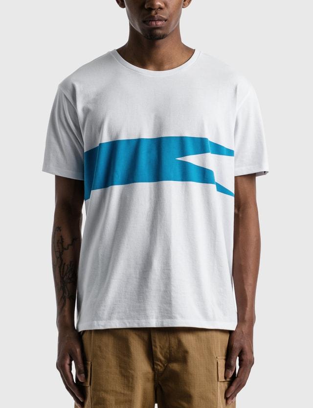 Nanamica Coolmax Graphic T-shirt White × Blue Wb Men