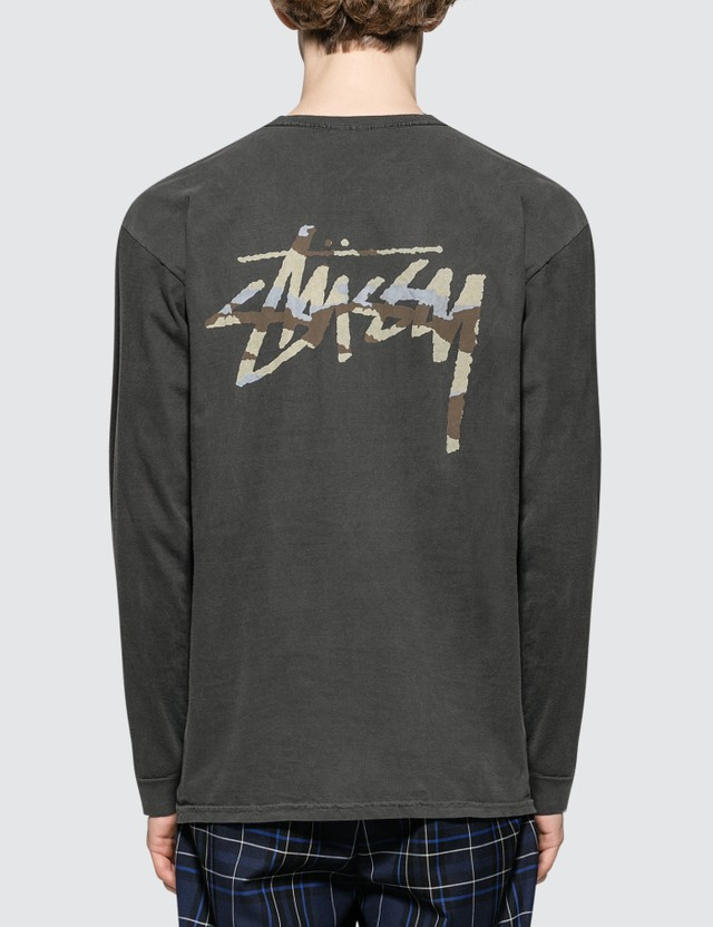 Stussy Camo Stock Pig Dyed Pocket L/S T-Shirt