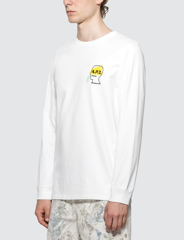 A.P.C. A.P.C. x Brain Dead Long Sleeve Logo T-Shirt