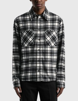 Off-White Arrow Check Flannel Shirt
