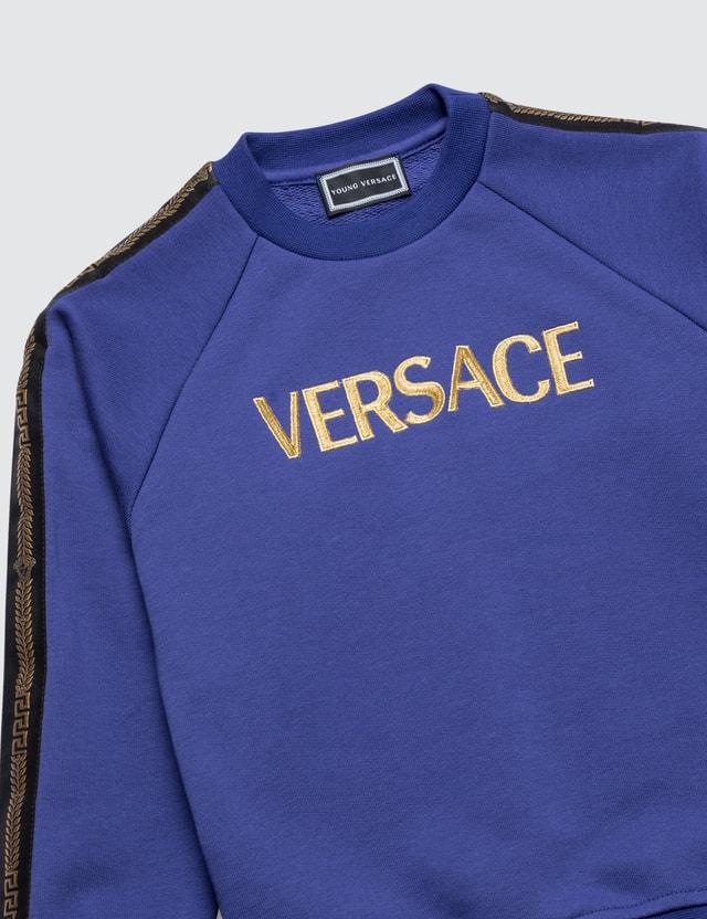 Versace Versace Logo Sweat Set Oceano+oro Kids