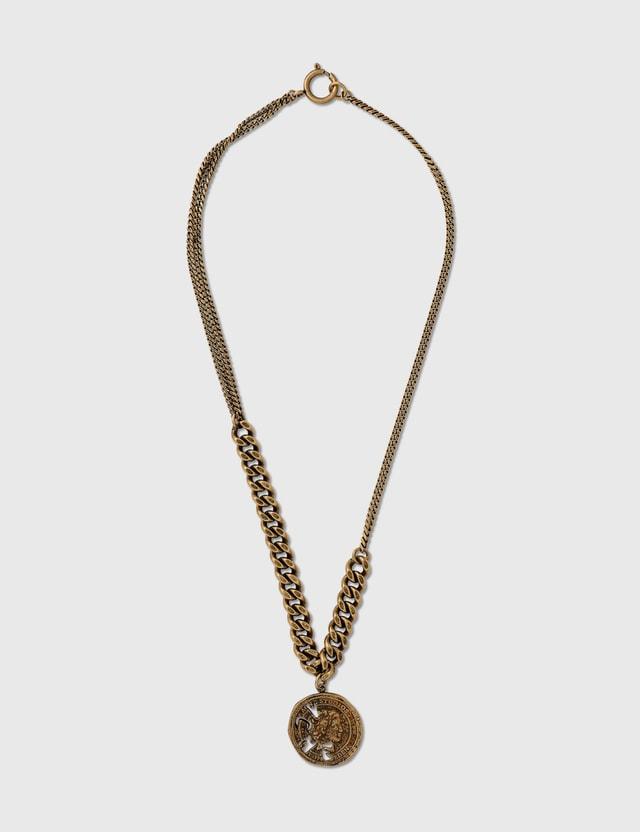 Acne Studios Agnetta Necklace Antique Gold Women