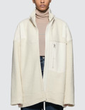 MM6 Maison Margiela Oversized Sherpa Zip Jacket Picture