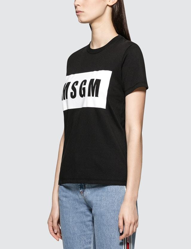 MSGM Box Logo Short Sleeve T-shirt