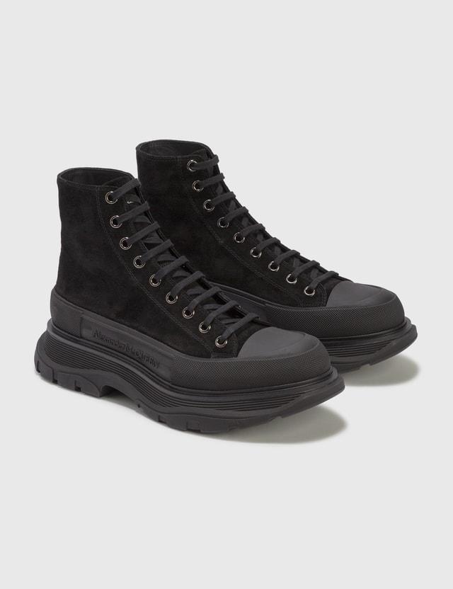 Alexander McQueen Tread Slick Boots Blk/blk/blk/blk/sil Men