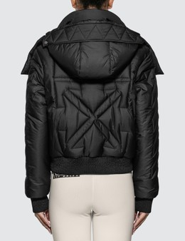 Off-White Embroidered Arrow Down Jacket