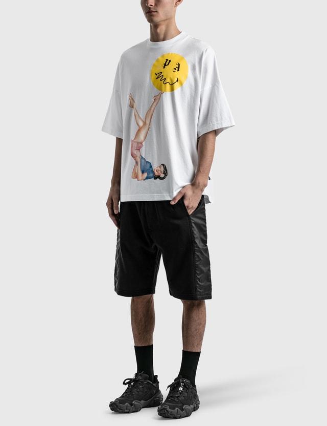 Palm Angels Juggler Pin Up Oversized T-shirt White Men