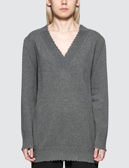 Alexander Wang.T Raw Edge V-neck Dress