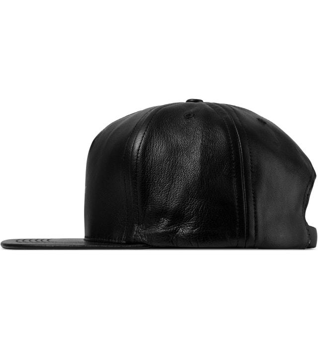 9bfa13ae Huf - Black Fuck It Leather Strapback Cap | HBX