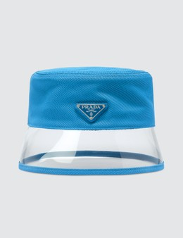 Prada PVC Brim Bucket Hat in Blue Picutre