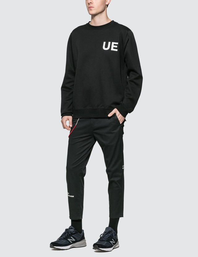 uniform experiment Back Concealed Pocket Crew Neck Sweatshirt