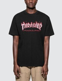 Thrasher Splatter Flame T-Shirt